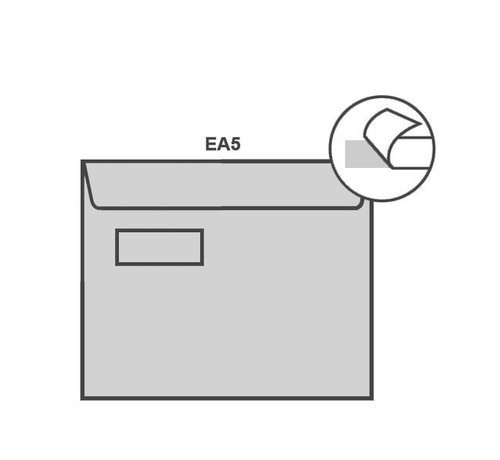 Specipack Witte envelop EA5 156 x 220 mm venster links doos 500 stuks