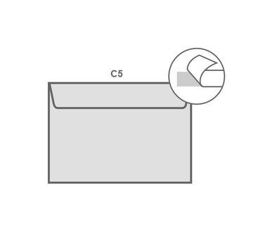 Witte envelop C5 162 x 229 mm doos 500 stuks
