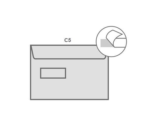 Specipack Witte envelop C5 162 x 229 mm venster links doos 500 stuks