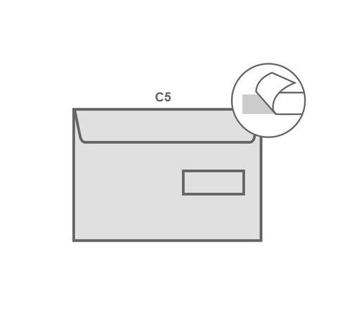 Specipack Witte envelop C5 162 x 229 mm venster rechts doos 500 stuks