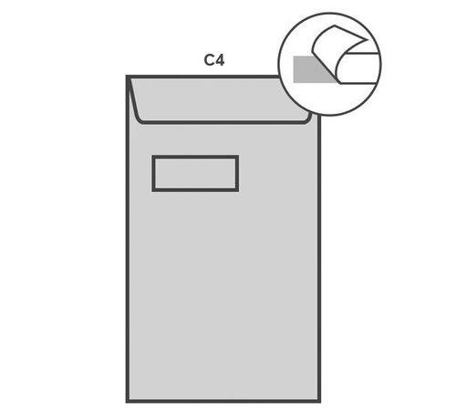 Specipack Witte akte envelop C4 229 x 324 mm venster links doos 250 stuks