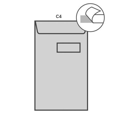 Witte akte envelop C4 229 x 324 mm venster rechts doos 250 stuks
