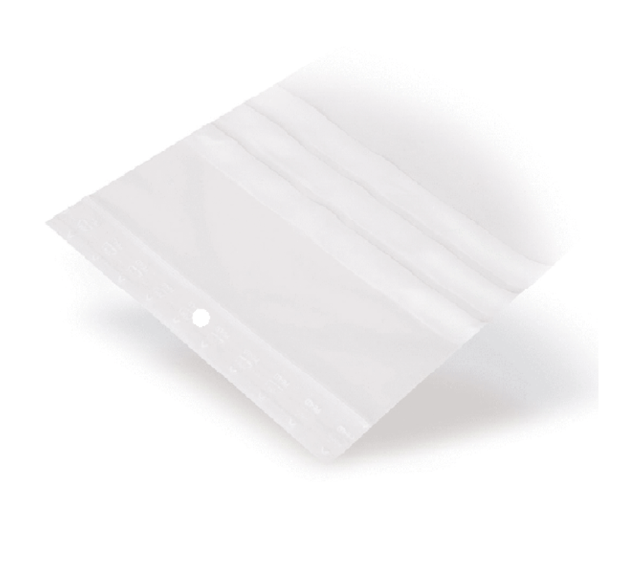 Gripzakje 160 x 230 mm met schrijfvlak en druksluiting doos 1000 stuks
