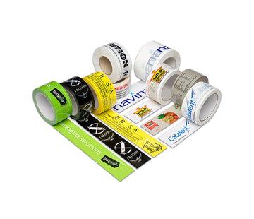 Bedrukte PVC Tape met Twee Kleuren bedrukt 50 mm x 66 m