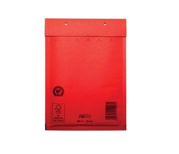 Rode luchtkussen envelop D 180 x 265 mm A5+ Rood Gekleurd  - Doos met 100 enveloppen