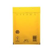 Gele luchtkussen enveloppen D 180 x 265 mm A5+ Geel Gekleurd  - Doos met 100 enveloppen
