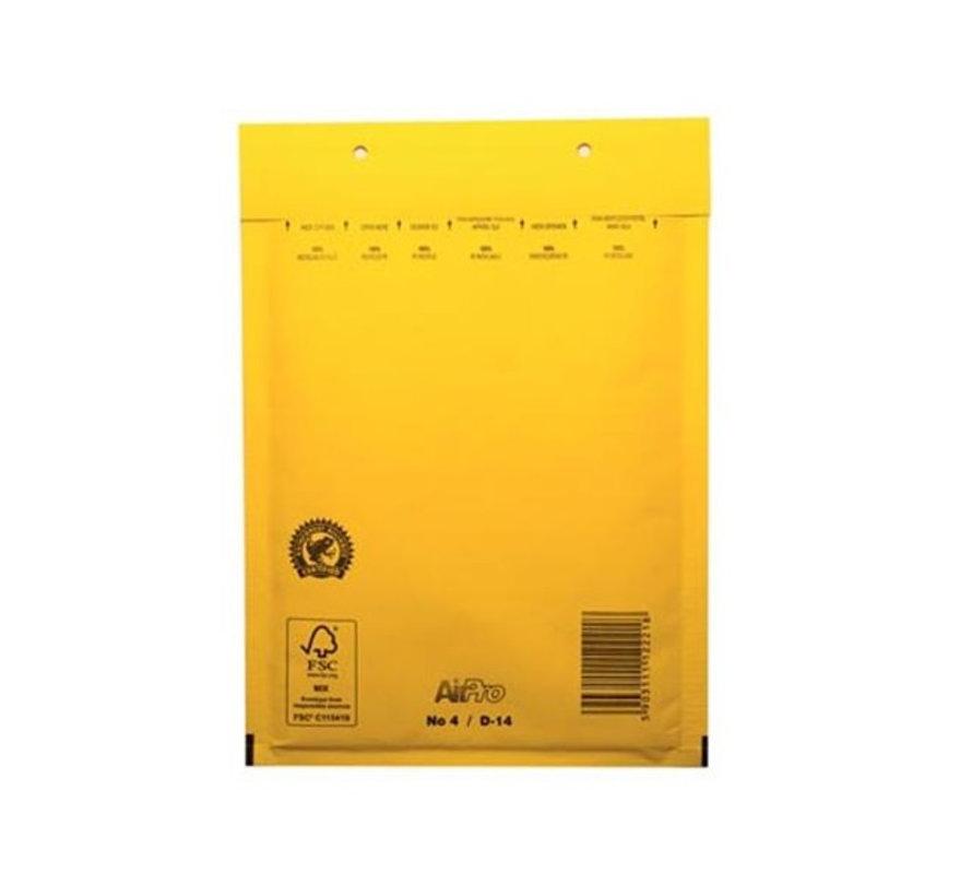 Gele luchtkussen envelop D 180 x 265 mm A5+ Geel Gekleurd  - Per 100 enveloppen te bestellen