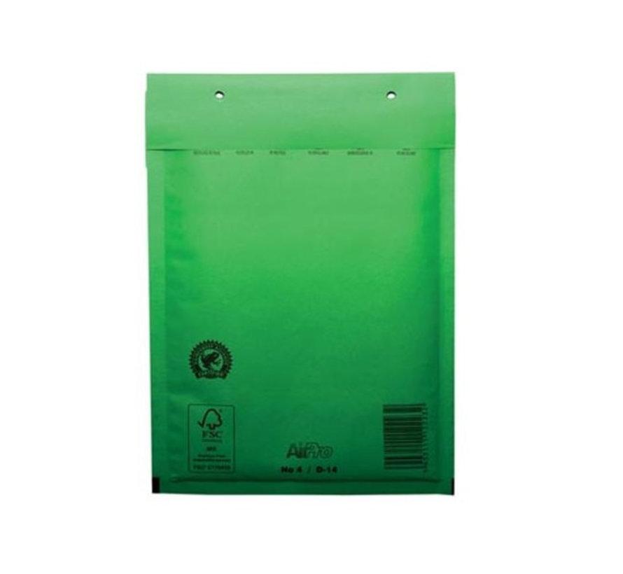 Groene luchtkussen envelop D 180 x 265 mm A5+ Groen Gekleurd  - Per 100 enveloppen te bestellen