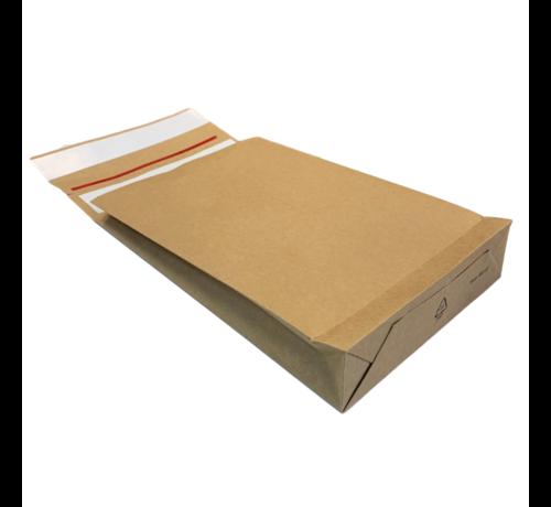 Specipack Kraft Verzendzak - Green E-commerce Blokbodem Mailer - 350 x 450 mm x 120 mm - 120 g/m2 - Dubbele Kleefstrip - Doos 200 enveloppen