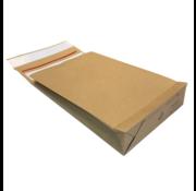 Specipack Kraft Verzendzak- Green E-commerce Blokbodem Mailer - 400 x 500 mm 126 g/m2 - Dubbele Kleefstrip - Doos 100 enveloppen