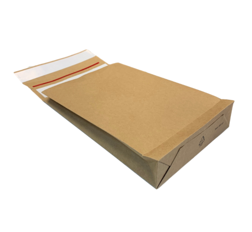 Specipack Specipack Kraft Verzendzak- Green E-commerce Blokbodem Mailer - 400 x 500 mm 126 g/m2 - Dubbele Kleefstrip - Doos 100 enveloppen