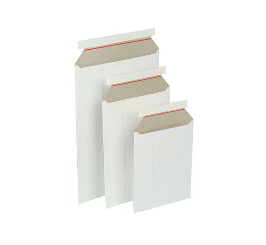 Kartonnen envelop 229 x 324 mm - Wit - Doos 100 stuks
