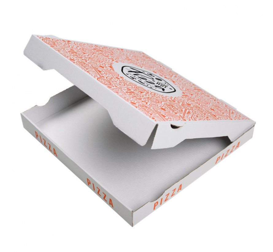 Pizzadoos Francia 32 x 32 x 4 cm - 50 stuks per pak - Golfkarton