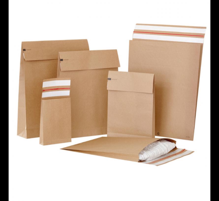 Specipack Kraft Verzendzak - Green E-commerce Blokbodem Mailer - 350 x 450 x 80 mm - 120 g/m2 - Dubbele Kleefstrip - Doos 200 enveloppen