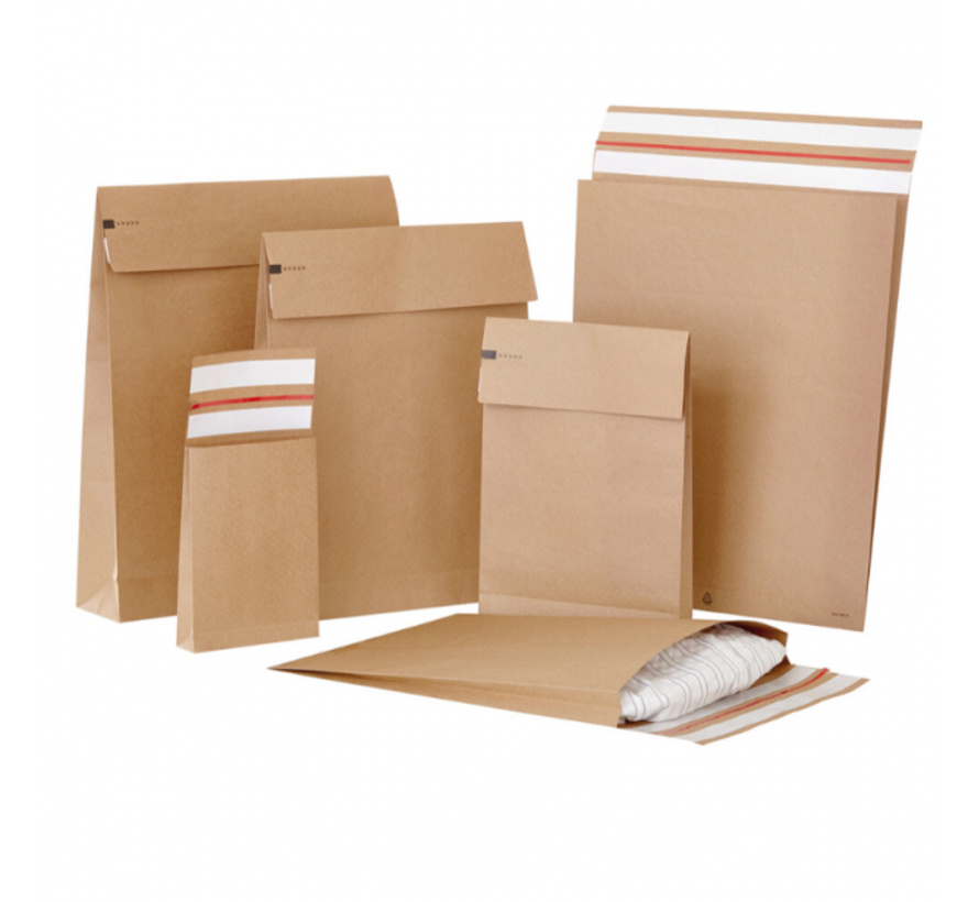 Specipack Kraft Verzendzak - Green E-commerce Blokbodem Mailer - 162 x 229 x 40 mm - 120 g/m2 - Dubbele Kleefstrip - Doos 250 enveloppen