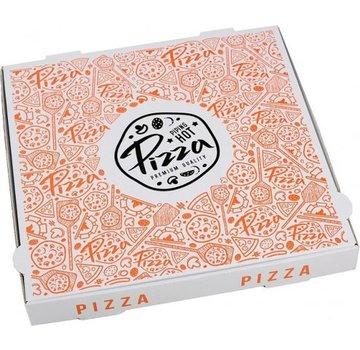 Specipack Pizzadoos Francia 32 x 32 x 4 cm - 50 stuks per pak - Golfkarton