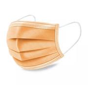 Specipack 3-laags mondkapjes Oranje - Gesealde verpakking - 50 stuks - Conform NEN-EN 149:2001+A1:2009