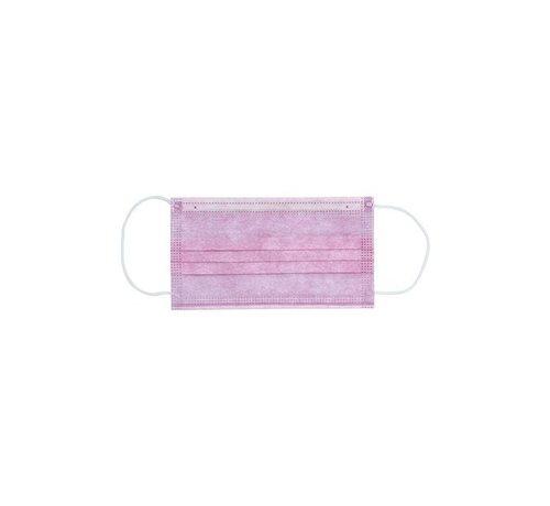 Specipack 3-laags mondkapjes Paars - Gesealde verpakking - 50 stuks - Conform NEN-EN 149:2001+A1:2009