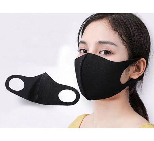 Specipack Mondmasker Wasbaar Zwart - 5 stuks - Herbruikbaar - 1000x wasbaar - Neopreen materiaal