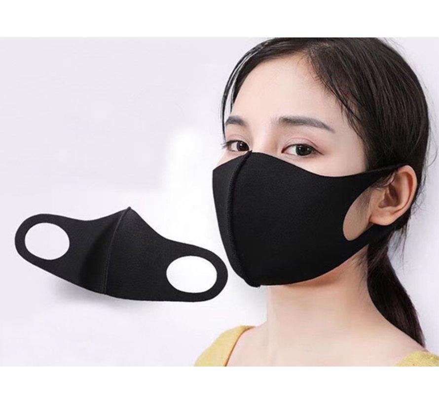 Mondmasker Wasbaar Zwart - 5 stuks - Herbruikbaar - 1000x wasbaar - Neopreen materiaal