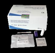 Corona sneltest (25 stuks) - bloedmonster - lgG & IgM test Intec Rapid