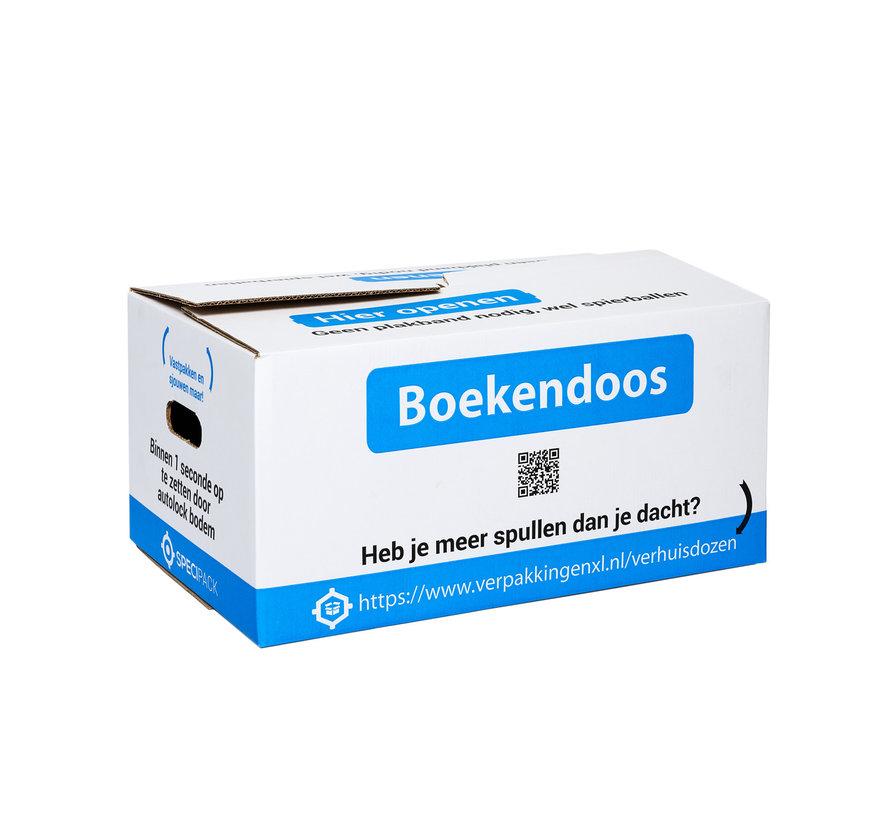 Boekendoos Premium - Bundel met 10 boekendozen - 35 Liter - Zelfsluitend - Dubbel golf karton - 48 x 32 x 25 cm