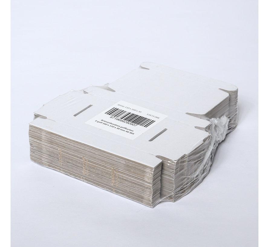 Brievenbusdoos golfkarton E-golf 160 x 110 x 30 mm A6 Wit  - Bundel met 50 postdozen