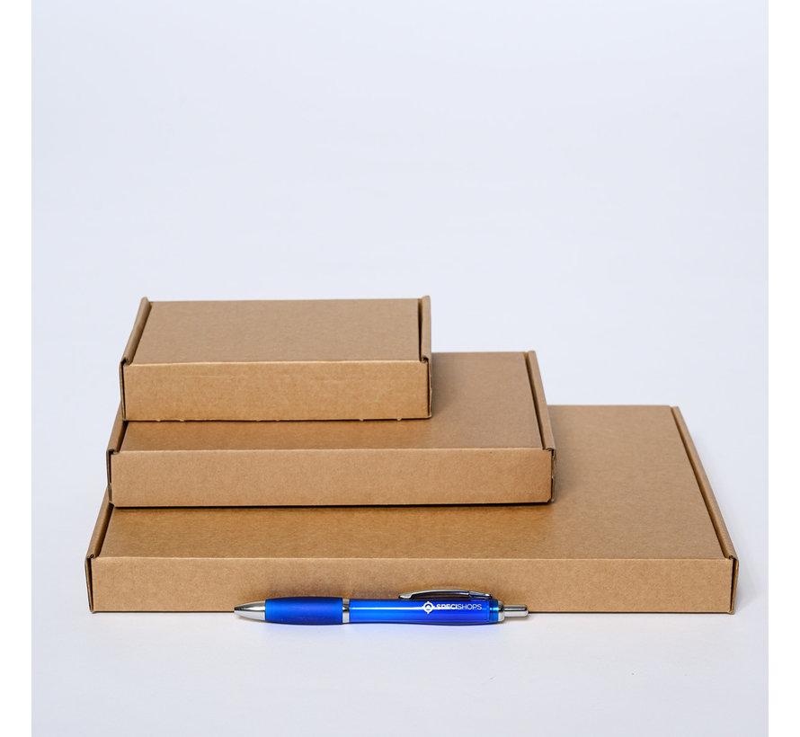 Brievenbusdoos golfkarton E-golf 370 x 260 x 30 mm XL Bruin - Per 50 dozen te bestellen