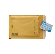Luchtkussen enveloppen Bruin C13 - Bubbelenveloppen 150 x 215 mm A5  - Doos met 100 enveloppen