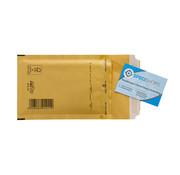 Luchtkussen envelop Bruin A - Bubbelenvelop 100 x 165 mm  - Per 200 enveloppen te bestellen