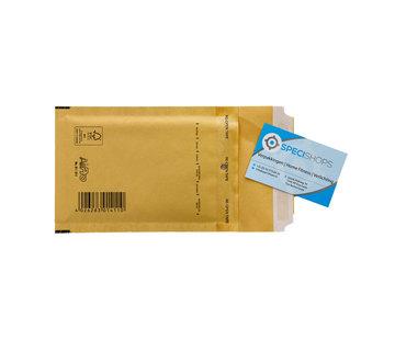 Luchtkussen enveloppen Bruin A11 - Bubbelenveloppen 100 x 165 mm  - Doos met 200 enveloppen