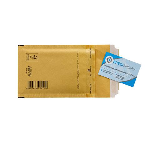 Luchtkussen enveloppen Bruin A - Bubbelenveloppen 100 x 165 mm  - Doos met 200 enveloppen