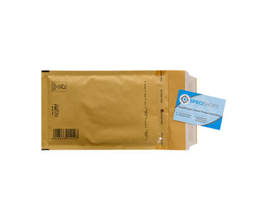 Luchtkussen enveloppen Bruin B12 - Bubbelenveloppen 120 x 215 mm A6  - Doos met 200 enveloppen