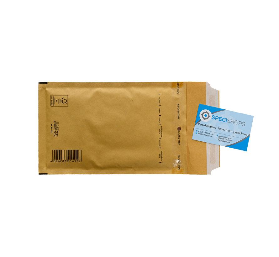Luchtkussen envelop Bruin B - Bubbelenvelop 120 x 215 mm A6  - Per 200 enveloppen te bestellen