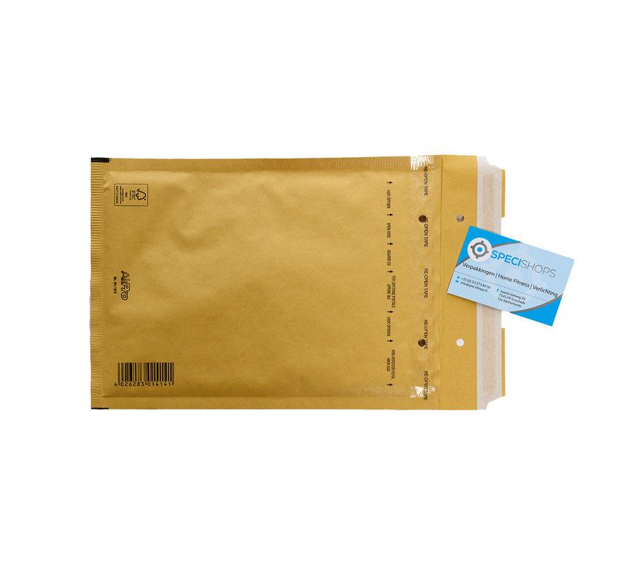 Luchtkussen envelop Bruin D - Bubbelenvelop 180 x 265 mm A5+  - Per 100 enveloppen te bestellen