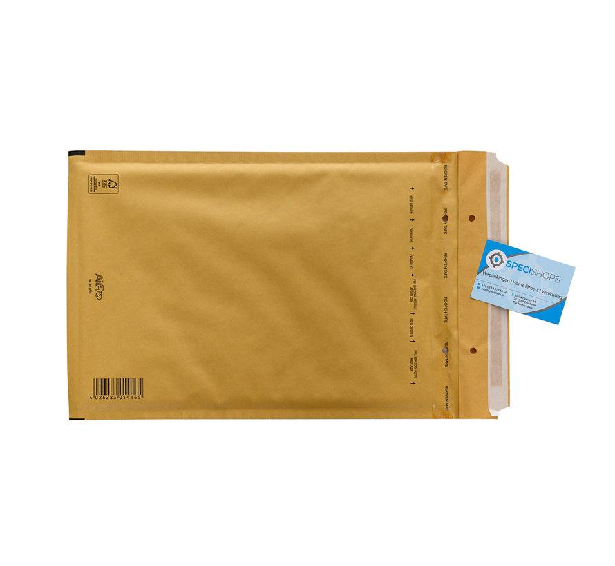 Luchtkussen envelop Bruin F - Bubbelenvelop 220 x 340 mm A4  - Per 100 enveloppen te bestellen