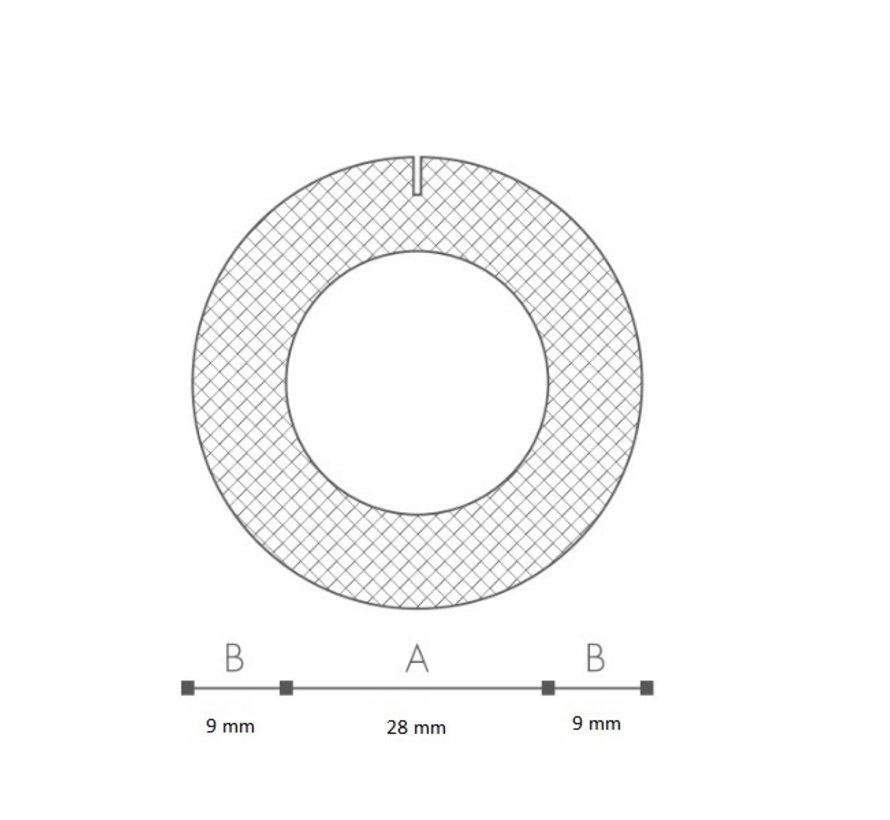 Schuimprofiel O-vorm Buisisolatie 28 mm Doos 52 stuks - 100 cm per profiel