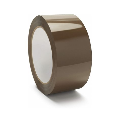 Doos met 36 rollen Verpakkingstape Tape Light - 25 my - Bruine Tape