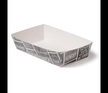 Snackbakje karton A9 - Pubchalk 120 x 70 x 35 mm - 400 stuks / €0,067 per stuk