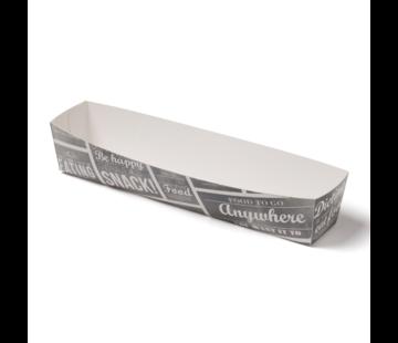 Snackbakje karton A16N - Pubchalk 185 x 33 x 35 mm - 400 stuks / €0,06 per stuk