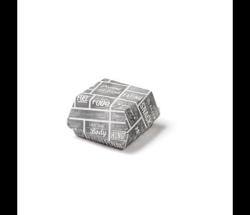 Hamburgerbakje karton klein - Pubchalk 90 x 90 x 70 mm