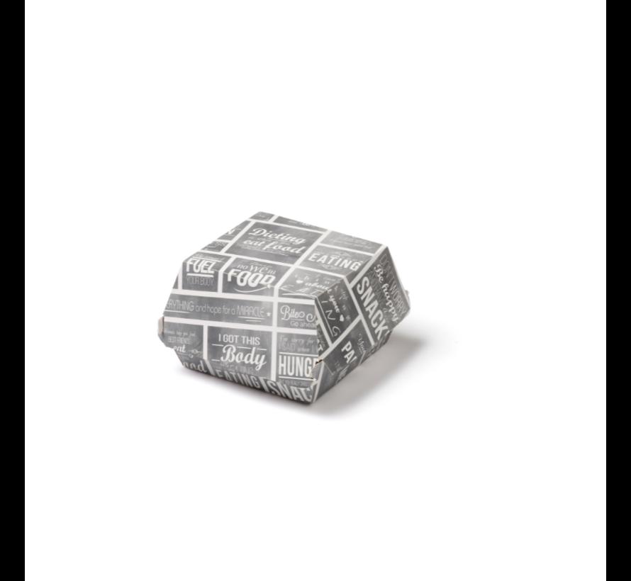 Hamburgerbakje karton klein - Pubchalk 90 x 90 x 70 mm - 300 stuks