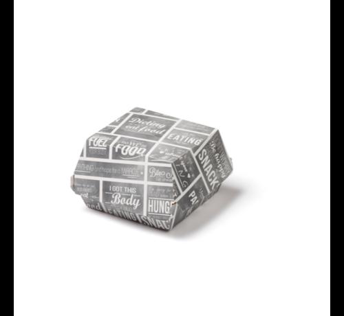 Hamburgerbakje karton medium - Pubchalk 115 x 115 x 70 mm - 300 stuks / €0,10 per stuk