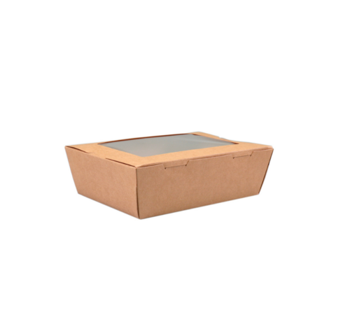 Maaltijdbox met Venster - 140 x 85 x 45 mm - 200 stuks / €0,15 per stuk