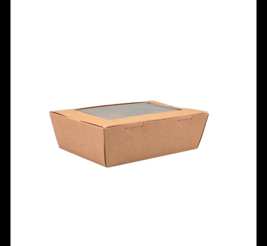 Maaltijdbox met Venster 195 x 140 x 50 mm - 200 stuks / €0,27 per stuk