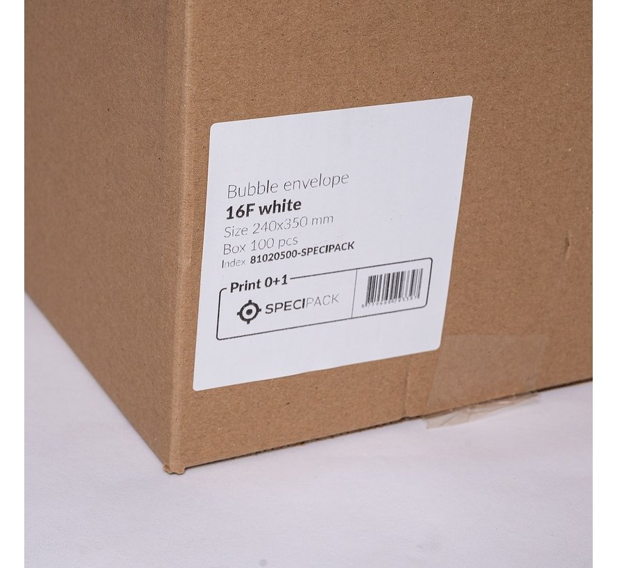 Luchtkussen enveloppen F - Bubbelenveloppen 220 x 340 mm A4  - Doos met 100 enveloppen