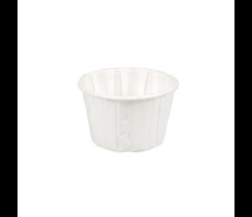 Portiecup papier wit - Sausbakje 55 ml - 5000 stuks / €0,012 per stuk