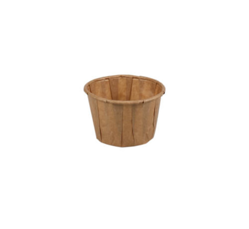 Portiecup papier bruin - Sausbakje 55 ml