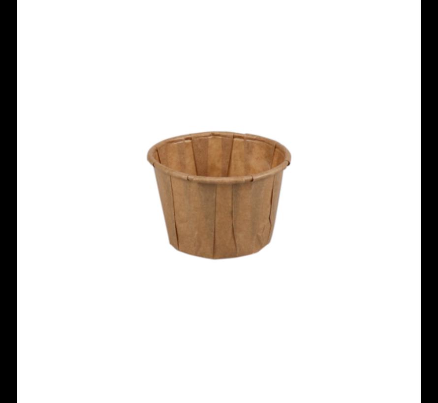Portiecup papier bruin - Sausbakje 55 ml - 5000 stuks/€0,012 per stuk
