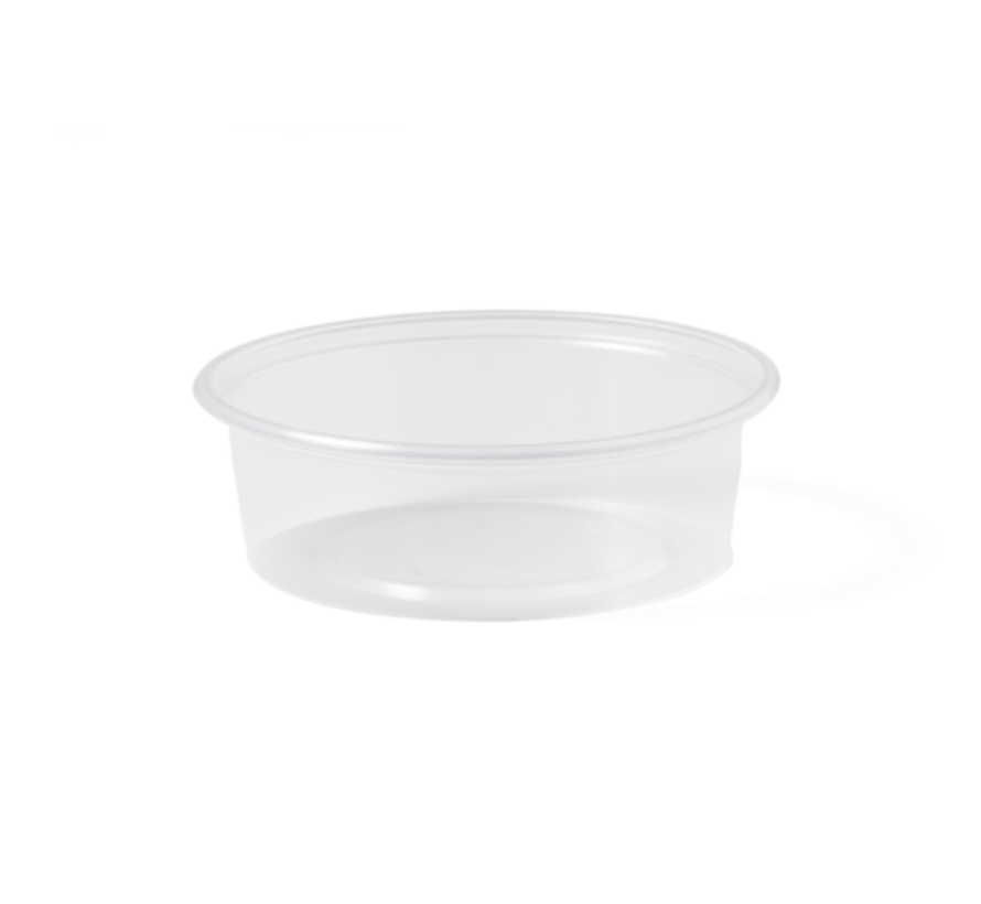 Sausbakje - 80 ml transparant - 1000 stuks / €0,017 per stuk